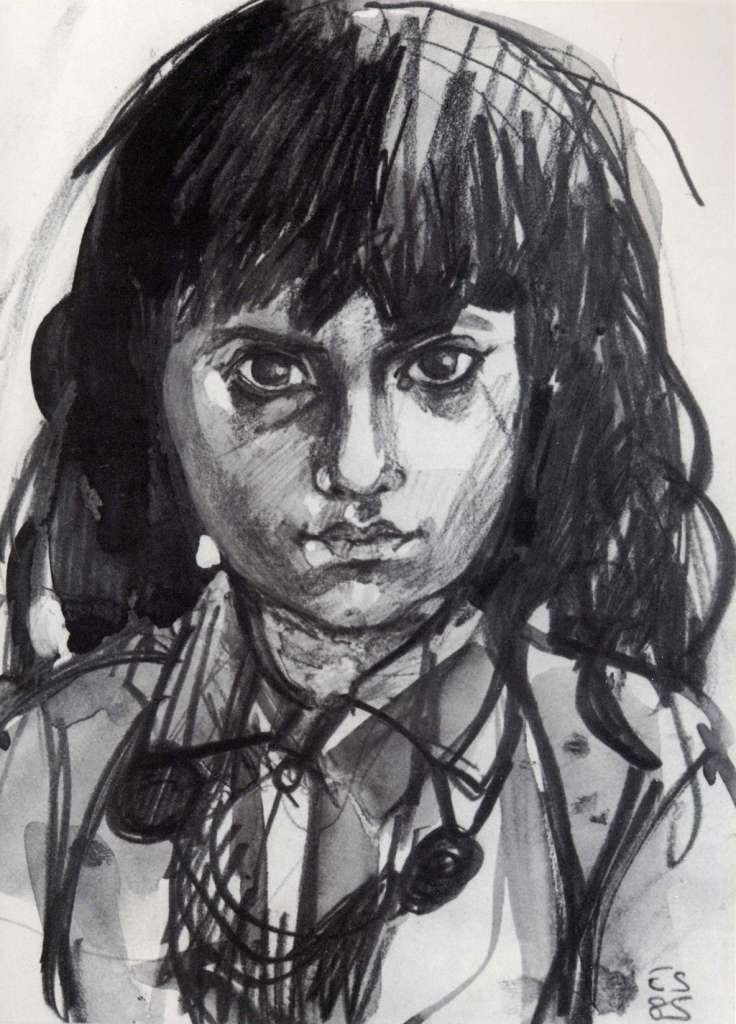 Image No: Afghan girl - Pencil sketch 1986