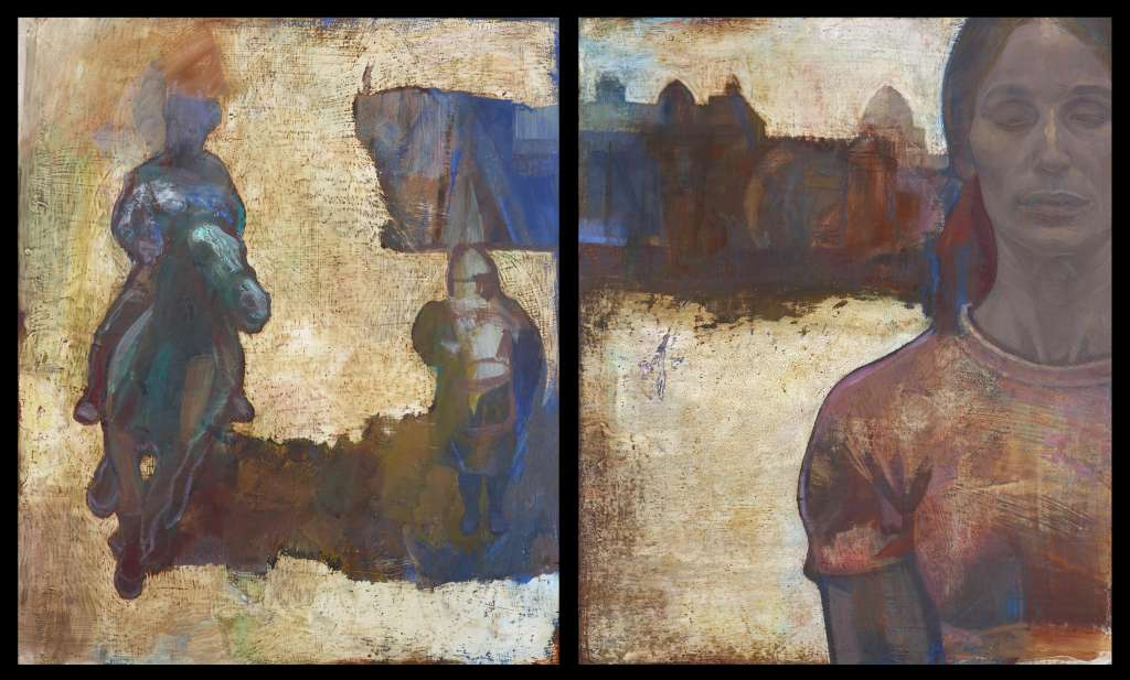 Madonna, Siena | Oil on Gesso, Diptych | Emma Segeant