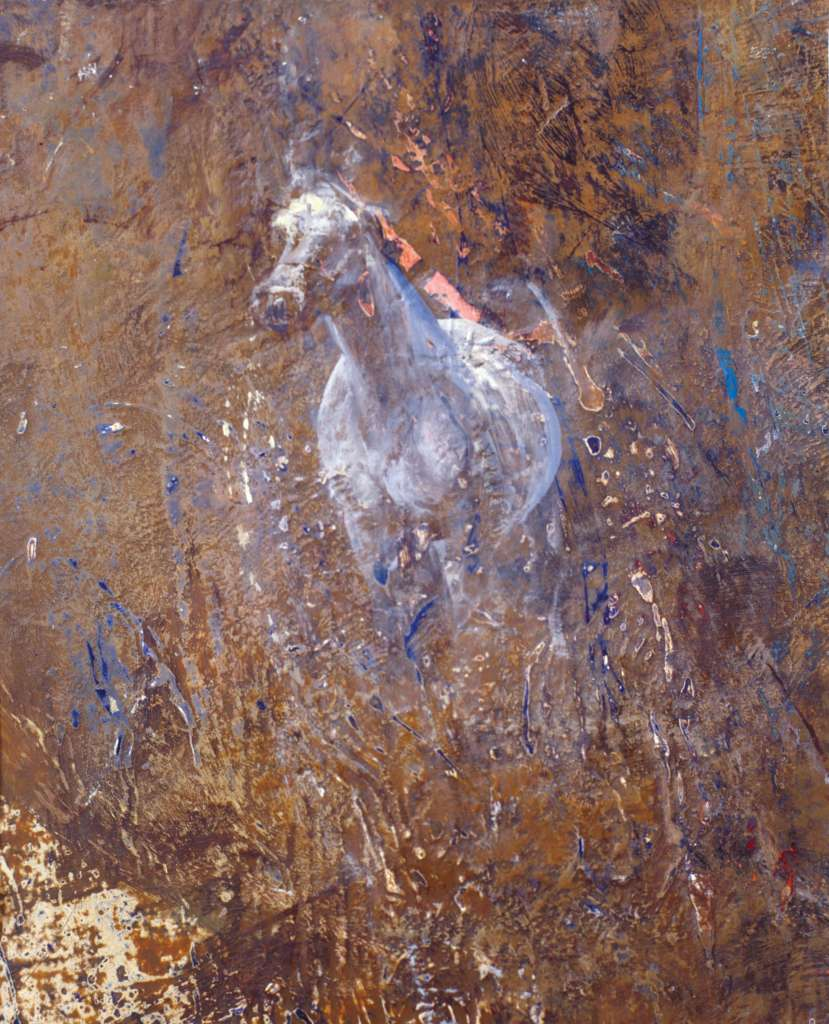 Grey Horse Study 2004 | Oil on gesso primed panel | Emma Sergeant